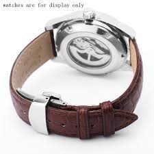 <b>PEIYI</b> 20 22mm Crocodile <b>Skin Leather Watchband Black Brown</b> ...