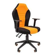<b>Кресло</b> геймерское <b>Chairman GAME 8</b> ткань черный/оранжевый ...