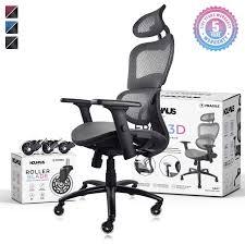 NOUHAUS Ergo3D Ergonomic <b>Office Chair</b> - <b>Rolling</b> Desk Chair ...