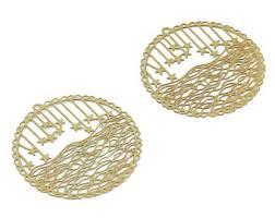 Craft Supplies & Tools Raw Brass Stars Moon <b>Earring</b> Charms 41.36 ...
