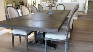 wood extendable dining table walnut modern tables: pecan trestle dining table by jeff santini