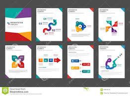 marketing brochure templates set 1 colorful multipurpose brochure flyer leaflet template flat design