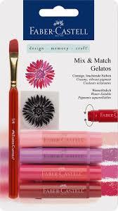 Faber-Castell <b>Восковые мелки</b> Gelatos цвет красный 4 шт. Купить ...
