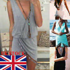 <b>Cotton</b> Summer/<b>Beach</b> Dresses for <b>Women</b> with <b>Tassels</b> | eBay