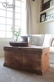 room vintage chest coffee table: pottery barn inspired chest coffee table