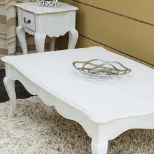 french shabby chic style homescapes vintage coffee table with cabriole legs new chic shabby french style distressed