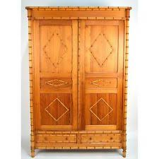 antique french belle epoque carved faux bamboo armoire wardrobe ca 1890 antique english pine armoire