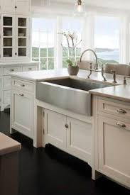 stainless steel farmhouse style kitchen sink inspiration the happy housie calabria stainless steel