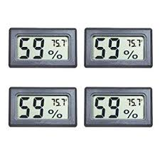 Veanic 4-Pack Mini <b>Digital Electronic Temperature Humidity</b> Meters