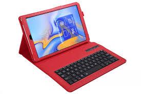 <b>Bluetooth Keyboard Leather Case</b> for Samsung Galaxy Tab A A6 ...
