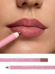 <b>Стойкий карандаш для губ</b> COLOR SALUTE SLIDE & STAY long ...