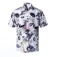 2019 <b>Men</b> Casual Short Sleeve Hawaiian Shirts Summer Beach ...