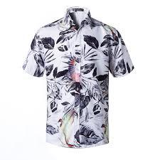 2019 <b>Men</b> Casual Short Sleeve Hawaiian Shirts Summer Beach ...