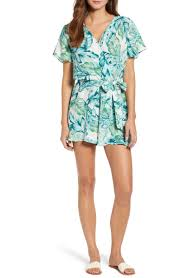 Gibson x Hi <b>Sugarplum</b>! Catalina Ruffle Hem Romper (Regular ...