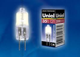 <b>Лампа</b> галогенная <b>Uniel G4</b> 35Вт (825) купить в интернет ...