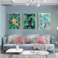 <b>Nordic Style</b> Modular Wall Art Poster&Print <b>Watercolor Plant</b> Tropical ...