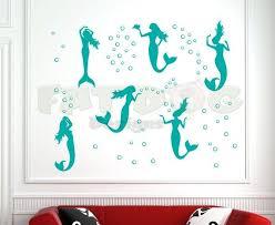 <b>Mermaids</b> and Bubbles Removable Wall Decal, <b>Bathroom</b> ...