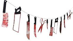 bluecookies Bloody Weapons Garland Props for <b>Halloween</b> ...