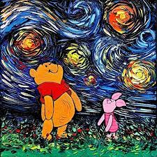 Cartoon bear baby room Art Print Poster Starry Night ... - Amazon.com