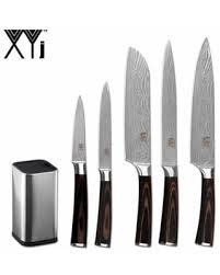 BIG Deal on <b>XYj</b> Stainless Steel <b>Knife</b> Holder <b>Set 6PCS</b> Damascus ...