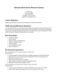 administrator cover letter network