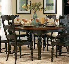 elegant square black mahogany dining table: bedroom personable top square dining table leaf best furniture