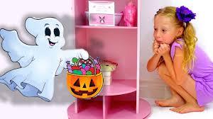 Nastya and mysterious adventures on <b>Halloween</b> - YouTube