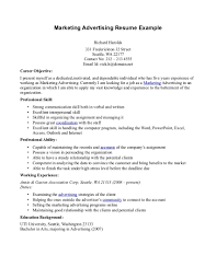 advertising marketing resume examples com advertising marketing resume examples com
