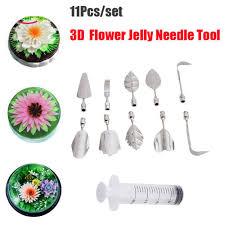Steel Flower <b>Pudding Jelly Fondant</b> Syring Art Nozzle <b>Cake</b> ...