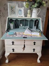 antique writing bureau shabbycountrychic chic mint teal office