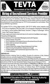technical education amp vocational training institute tevta  technical education amp vocational training institute government of punjab jobs in lahore 22nd 2016