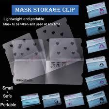 YE Foldable <b>Mask</b> Storage Clip Plastic Portable <b>Storage Bag Cute</b> ...