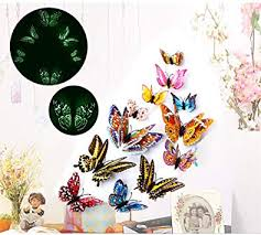 Butterfly Wall Decals Stickers,ForTomorrow 12 PCS <b>3D Luminous</b>