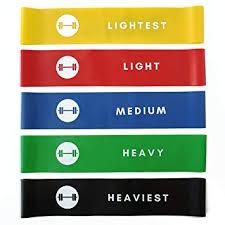 Resistance Loop Bands - Elevans Premium <b>Exercise Bands</b> Set of <b>5</b> ...