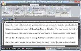 using microsoft word to create references and bibliographies  references