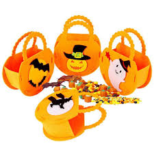 <b>Portable Halloween Pumpkin Shape</b> Candy Bag Storage Bucket ...