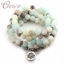 <b>CANNER</b> Amazonite Stone Bracelets Bangles Lotus Charm ...