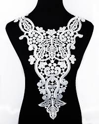 <b>1pc</b> white Embroidery Venise <b>big</b> flower lace neckline fabric, DIY ...