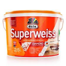 Водно-дисперсионная <b>краска dufa Superweiss</b> RD4, 10 л ...