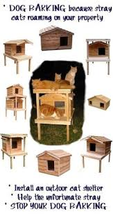 images about Outside Cat House on Pinterest   Outside Cat    erecting an insulated cedar wood outdoor cat house on your property  This would give shelter to the stray cats  stop them roaming about on your property