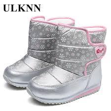 <b>Ulknn</b> Girls <b>Boys Winter Boots</b> Wool Lining For <b>Children Snow Boots</b> ...