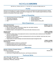 resume for a job developer  sponsorship request letter for event resume for a job developer resume template job resume templates resume samples web developer resume example