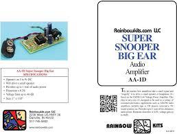 SUPER SNOOPER BIG EAR - PDF