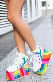 Qozmo Unicorn Hi Top Rainbow Japanese Trainers <b>Buffalo</b> Boots ...