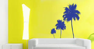 palm tree wall stickers: three palm trees wall decals family palm tree decal three palm trees wall decals