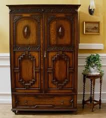 antique english carved oak jacobean style wardrobe armoire antique armoires antique wardrobes english