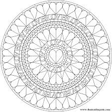 Small Picture Love Heart Mandala Mandala coloring Pages Pattern Mandala Free