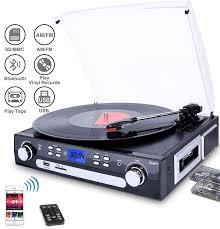 DIGITNOW <b>Vinyl</b>/<b>LP Turntable Record Player</b>, with Bluetooth ...
