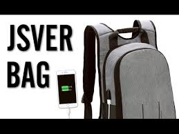 JSVER <b>Laptop Backpack</b> with <b>USB Charging</b> Port Review - YouTube