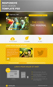 beautiful web design template psd for designscanyon theyalow website online template theyalow a responsive web